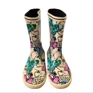 Coach Butterfly and Jewelry Print Rainboots | 8